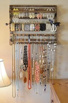 bedroom storage jewellery hooks